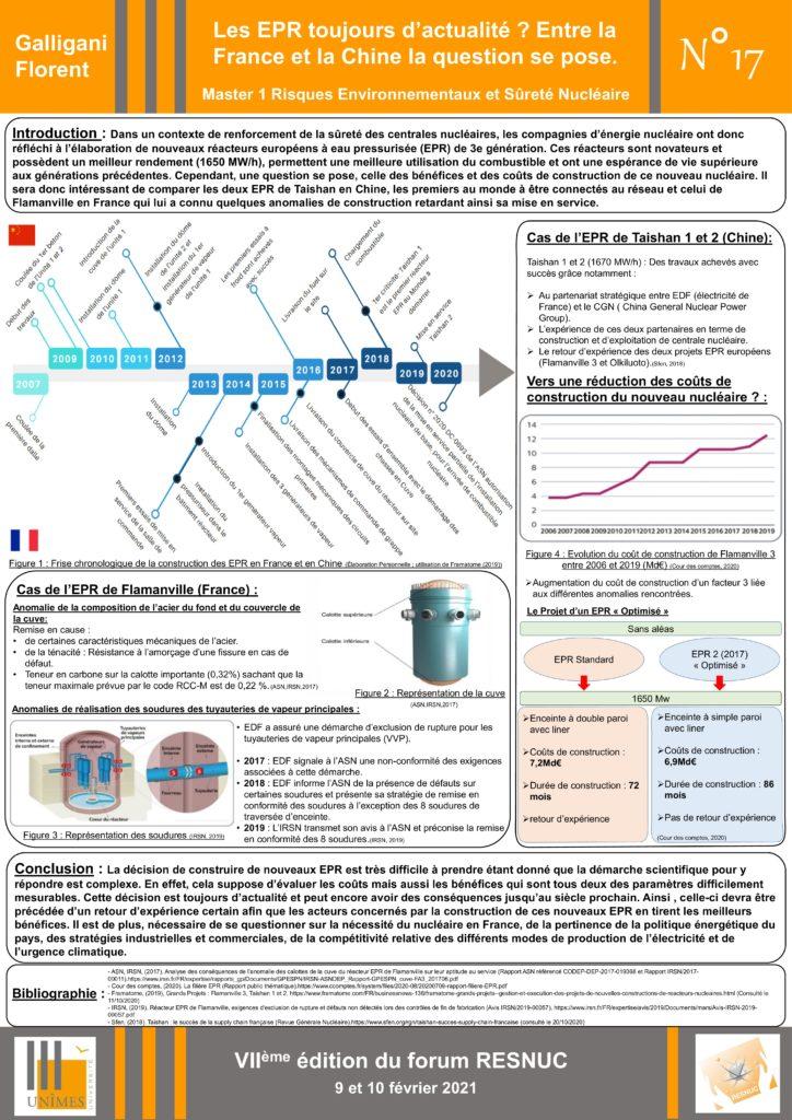 Poster #17 : Les EPR toujours d'actualité ? Entre la France et la Chine la question se pose