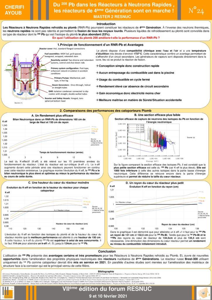 Poster #24 : Du 208 Pb dans les Réacteurs à Neutrons Rapides , les réacteurs de 4 ème Génération sont en marche !