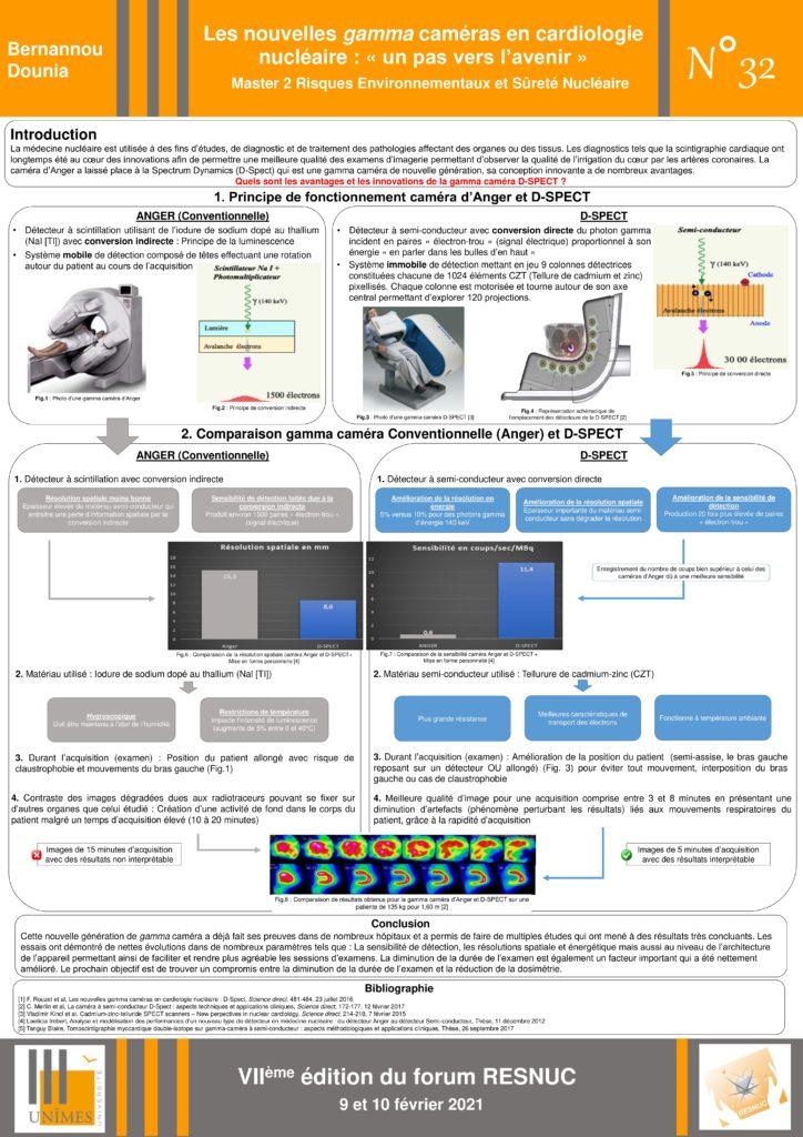 Poster #32 : Les nouvelles gamma caméras en cardiologie nucléaire : « un pas vers l'avenir »